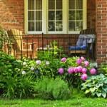 porch with garden